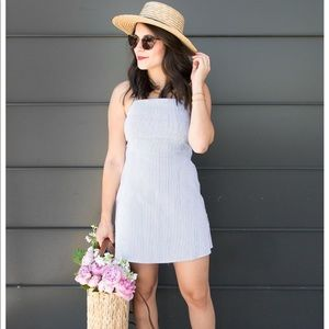 Urban outfitters blue and white stripped dress